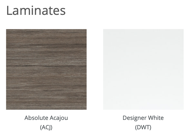 privacy panel laminate finishes
