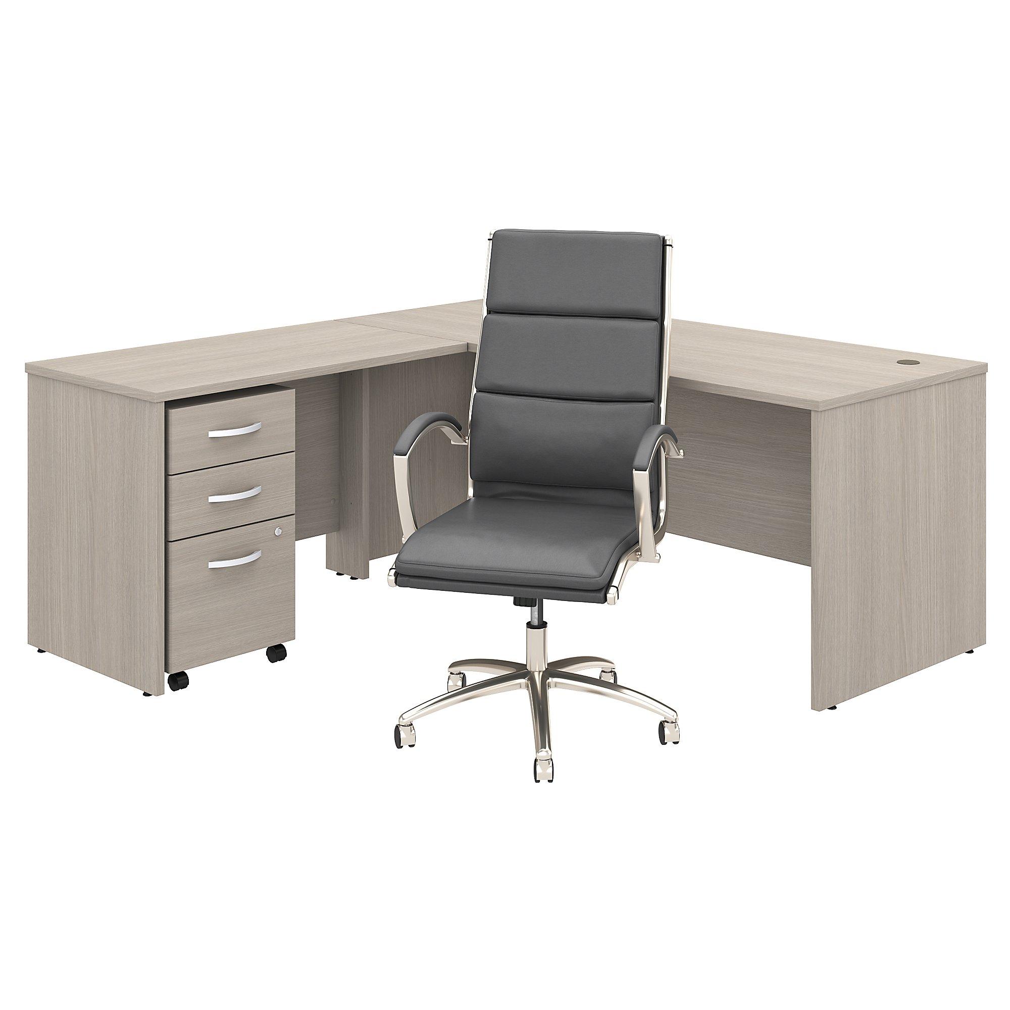 studio c l desk with chair in sand oak