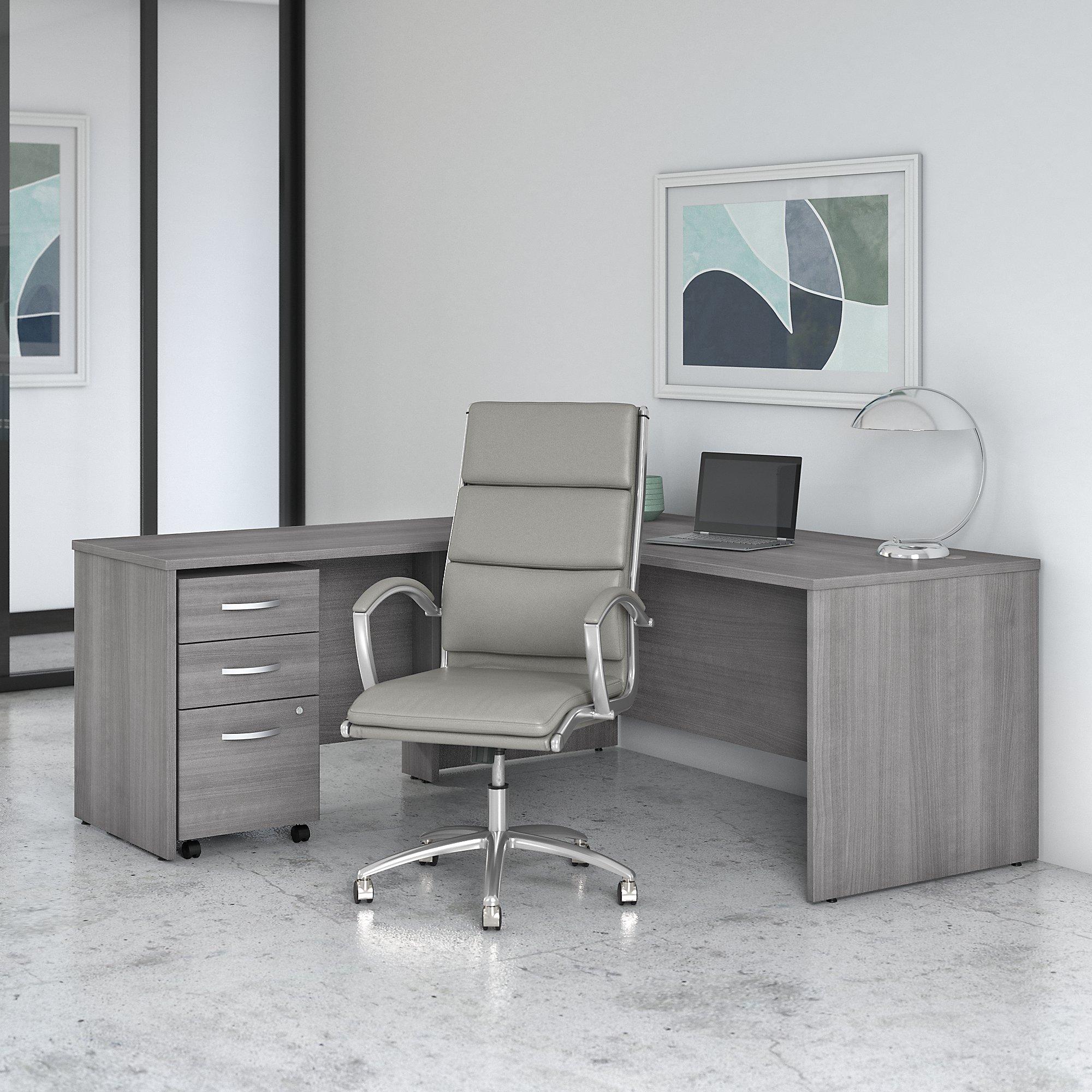 platinum gray studio c l desk with chair