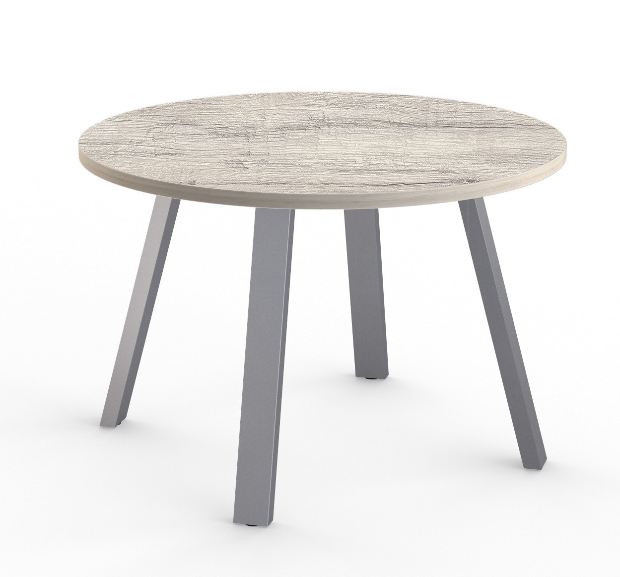 aim xl gathering table in white driftwood