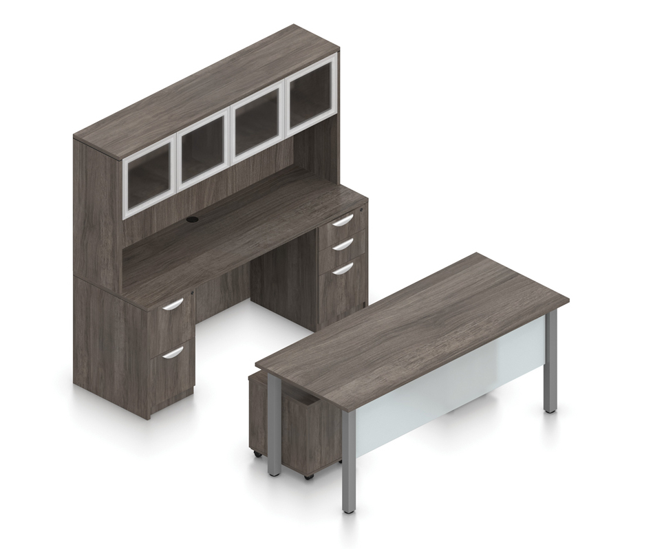 artisan gray superior laminate executive suite