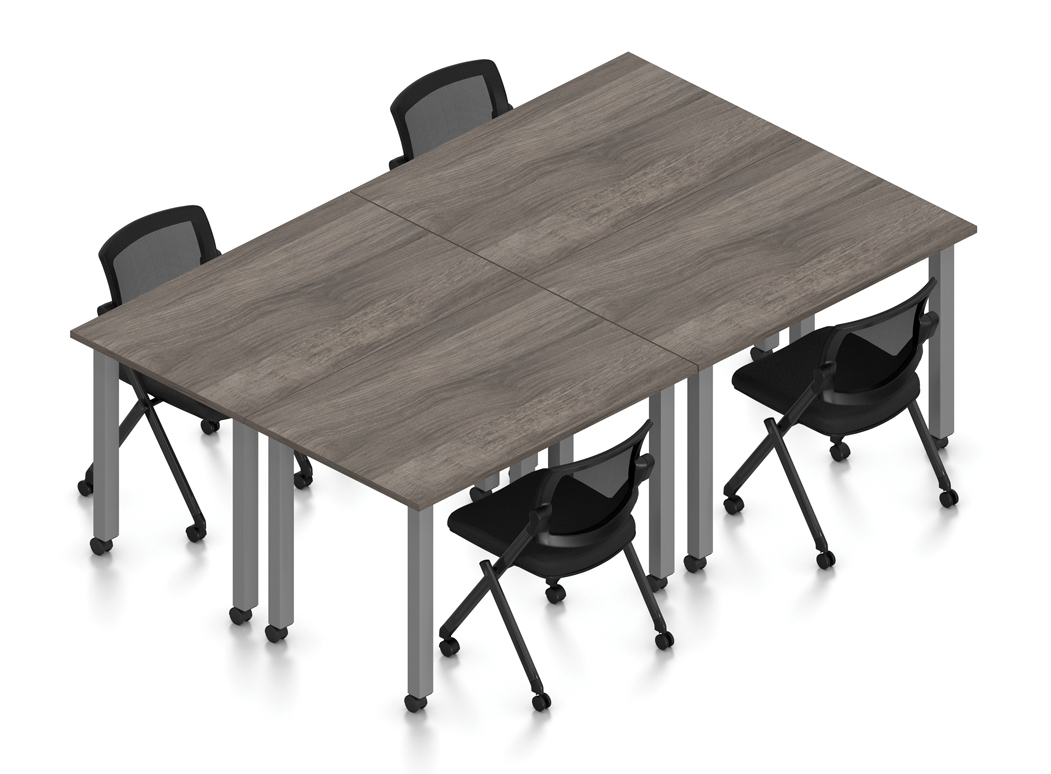 artisan gray 4 person table configuration