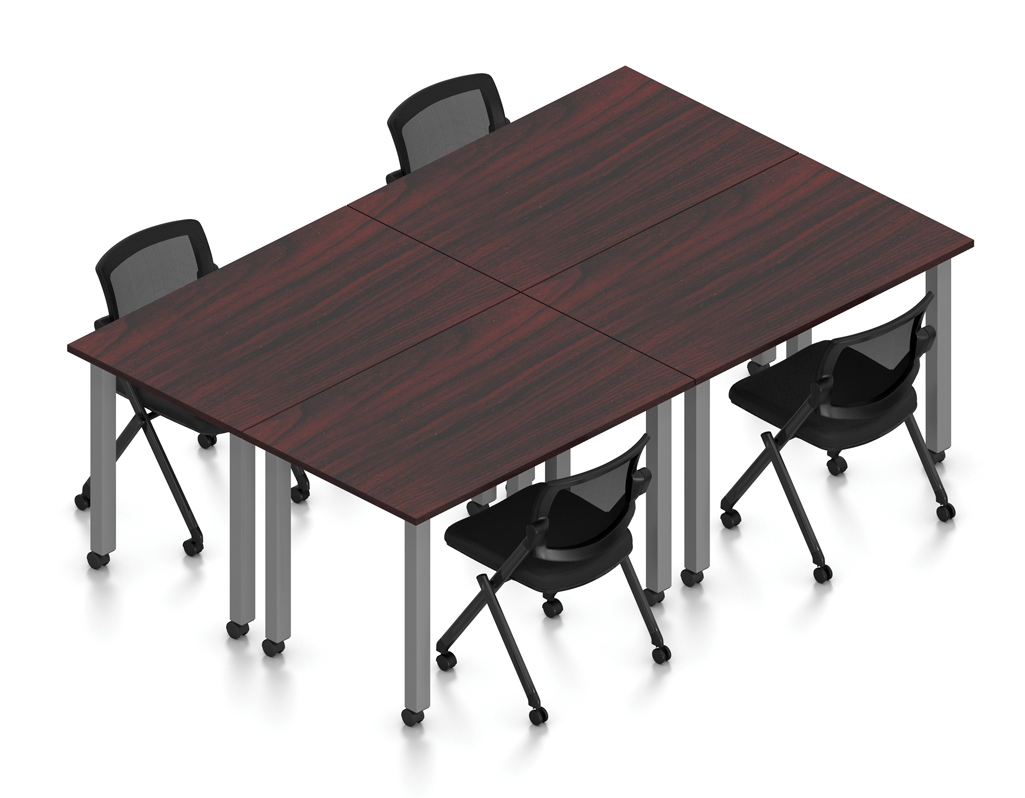 mahogany 4 person table configuration