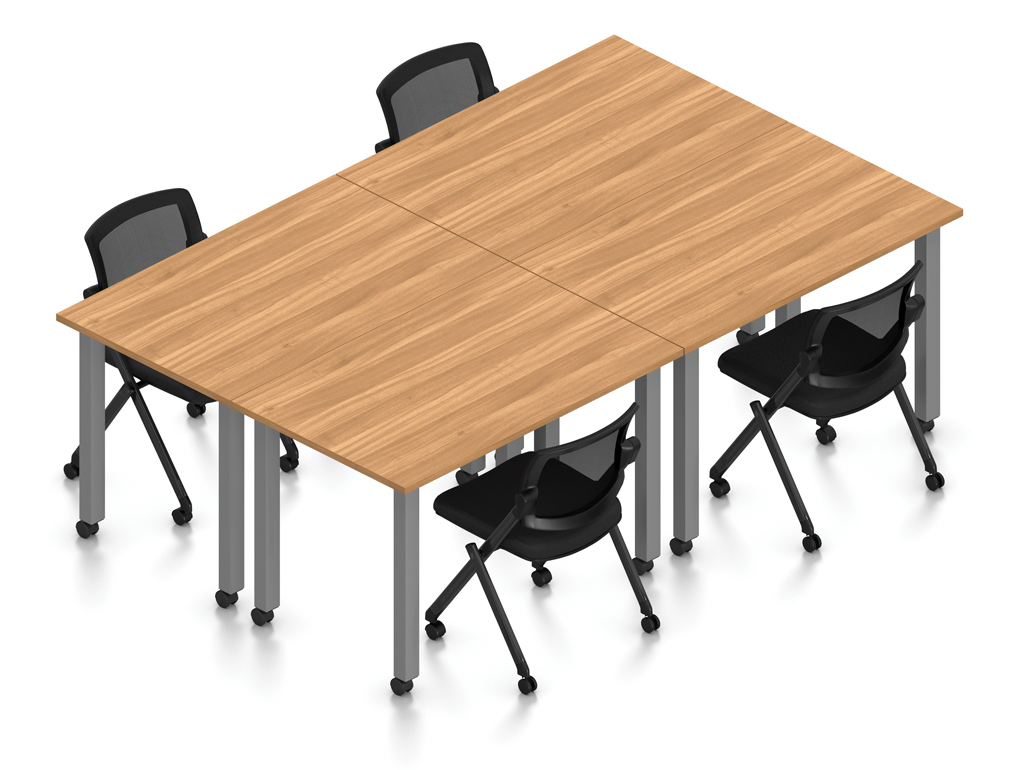 autumn walnut 4 person table configuration