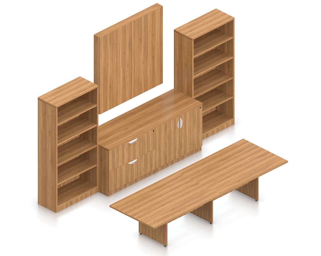 walnut superior laminate conference furniture set