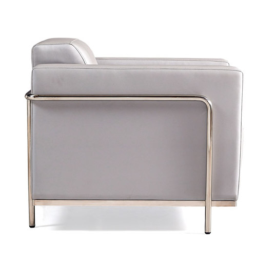 keef lounge chair side view - silver