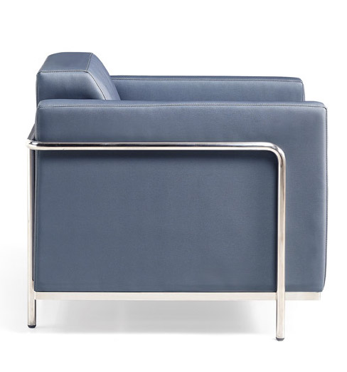 keef lounge chair side view - charcoal
