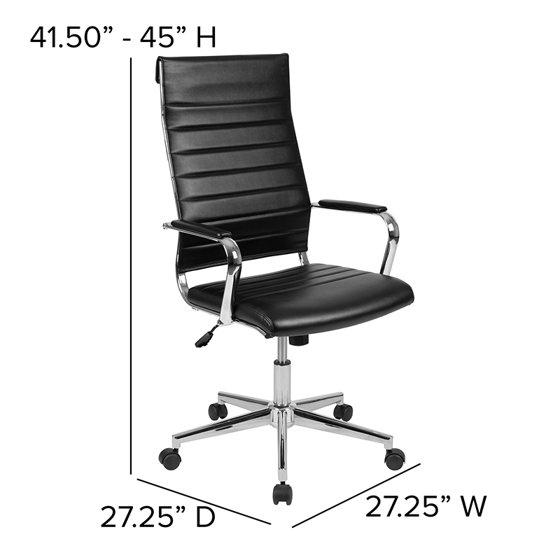 ribbed chair dimensions