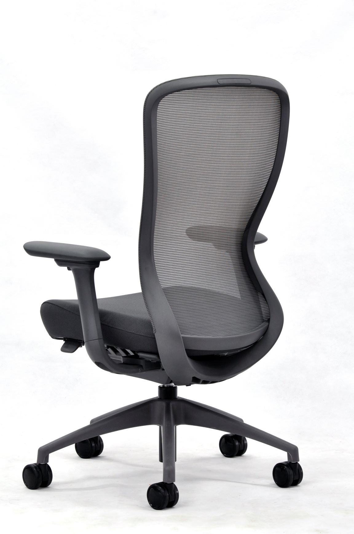 eurotech seating black exchange office chair back view