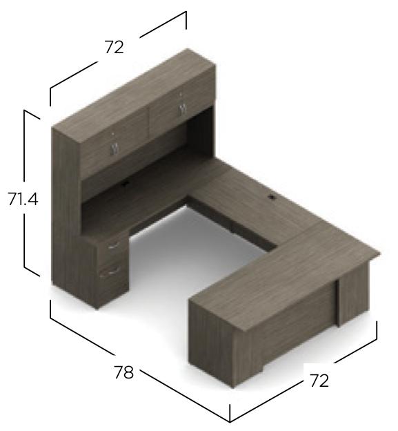 zira desk dimensions