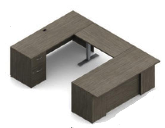 zira ergonomic u-desk