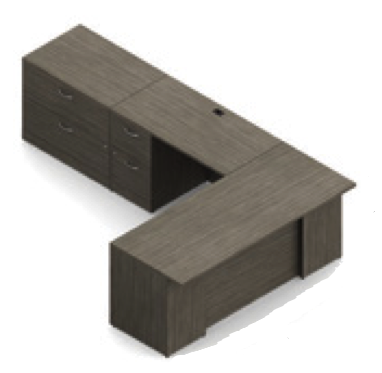 zira l desk with lateral file