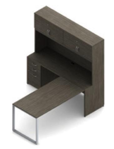 absolute acajou l-desk with hutch