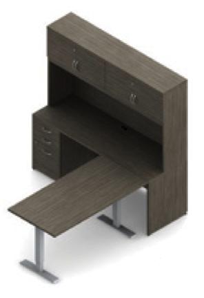 zira absolute acajou ergonomic l desk with hutch