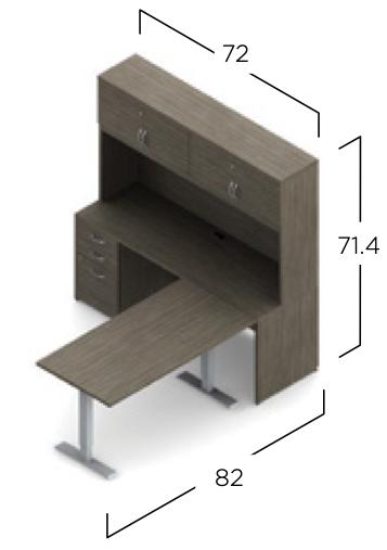 zira absolute acajou ergonomic l desk with hutch dimensions