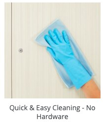 easy to clean locker surfaces