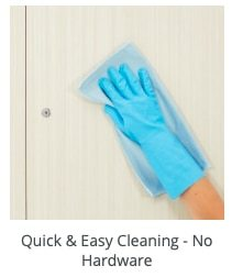 easy to clean doors