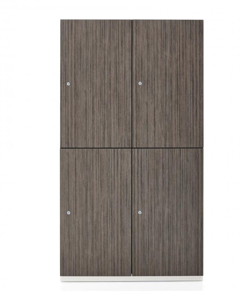 1200 series 4 compartment storage locker - front view