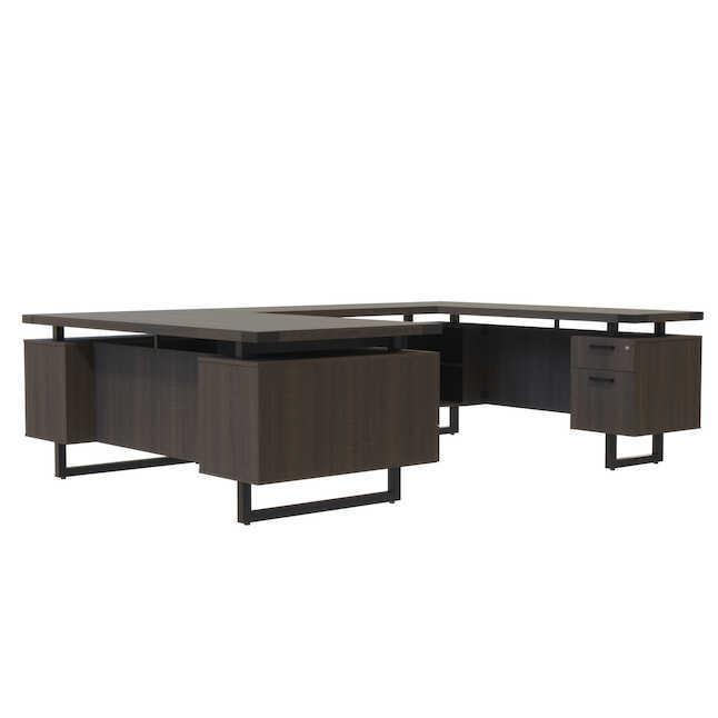 safco mirella u shaped executive office desk mrusbf7236