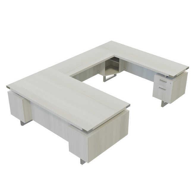 white ash mirella u desk mrusbf7236