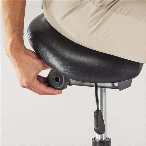 twixt extended height saddle stool features