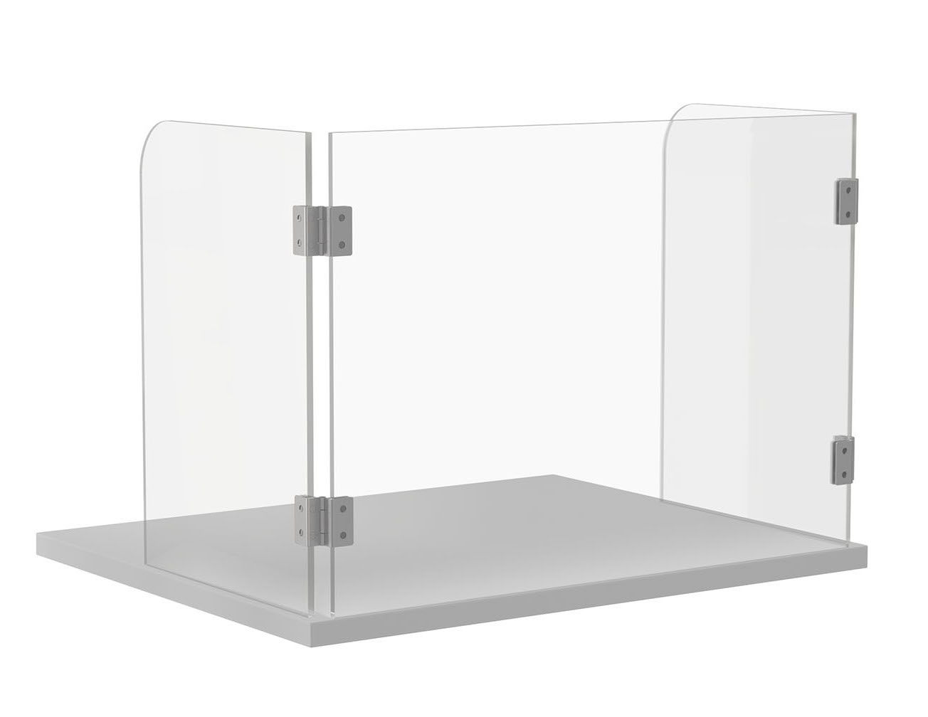 folding executive screen with metal hinges