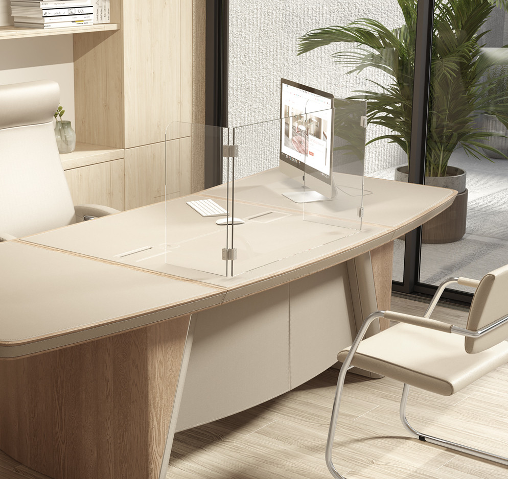 executive screen on desk