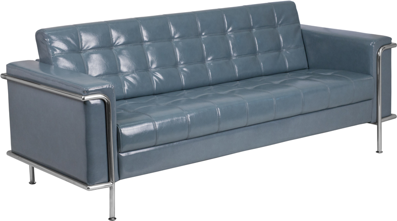 lesley tufted sofa in gray