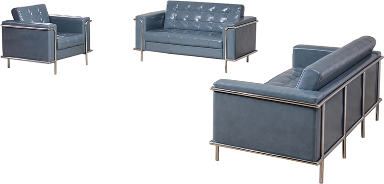lesley lounge furniture set in gray
