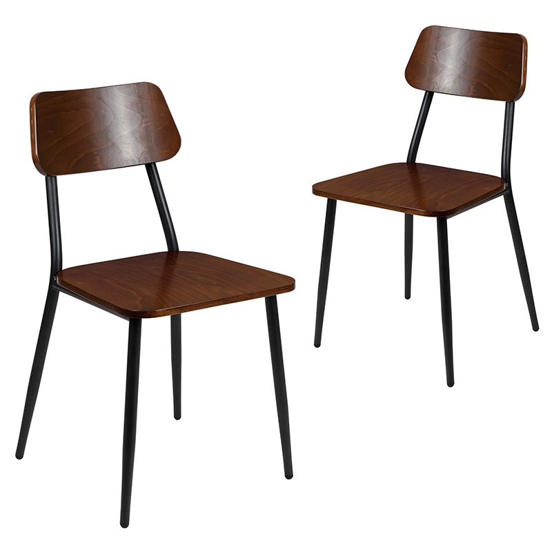 2 pack of stackable dining chairs