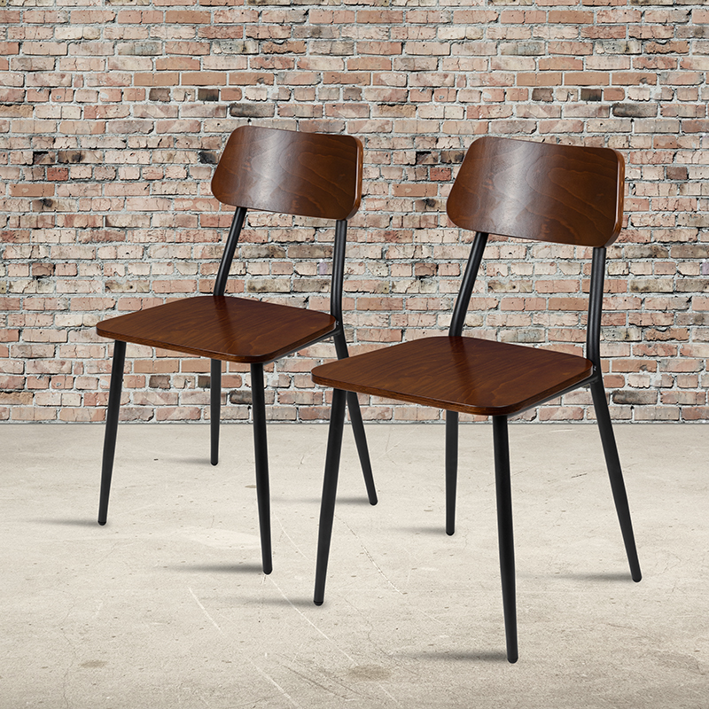 flash furniture stackable dining chair