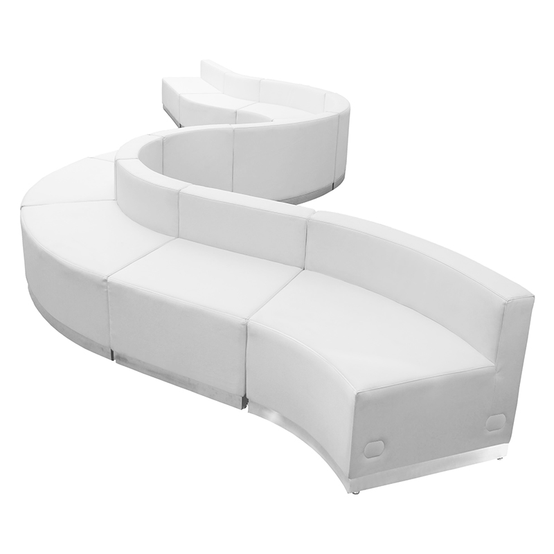10 piece modular reception seating set