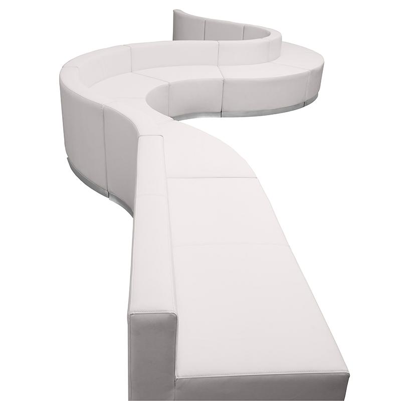 flash furniture alon series 9 piece reception seating set