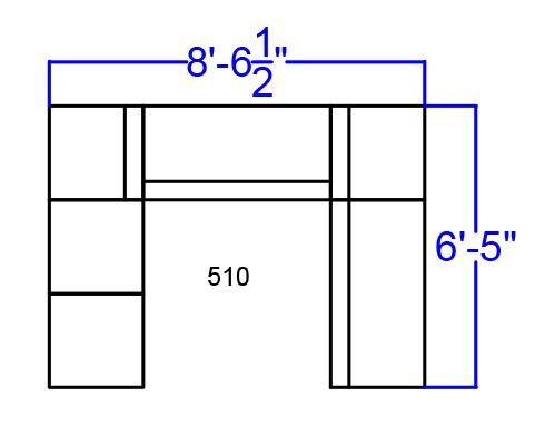 alon series open u-shaped modular seating set dimensions