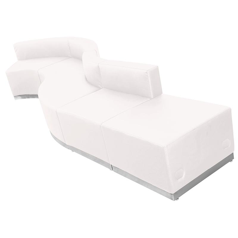alon series modern white reception set