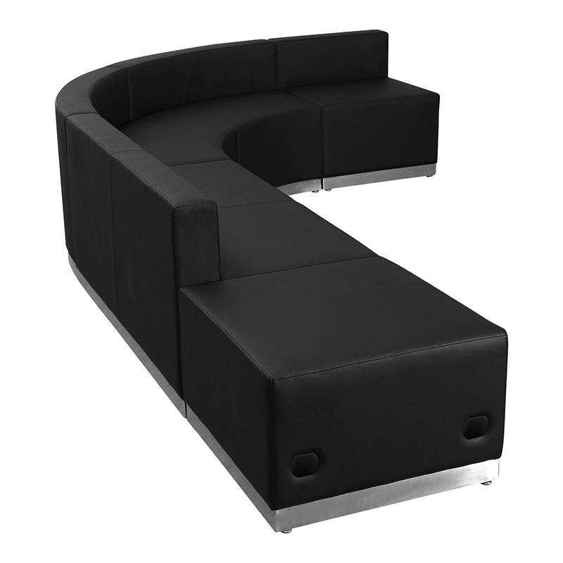 alon modular j-shaped reception sectional