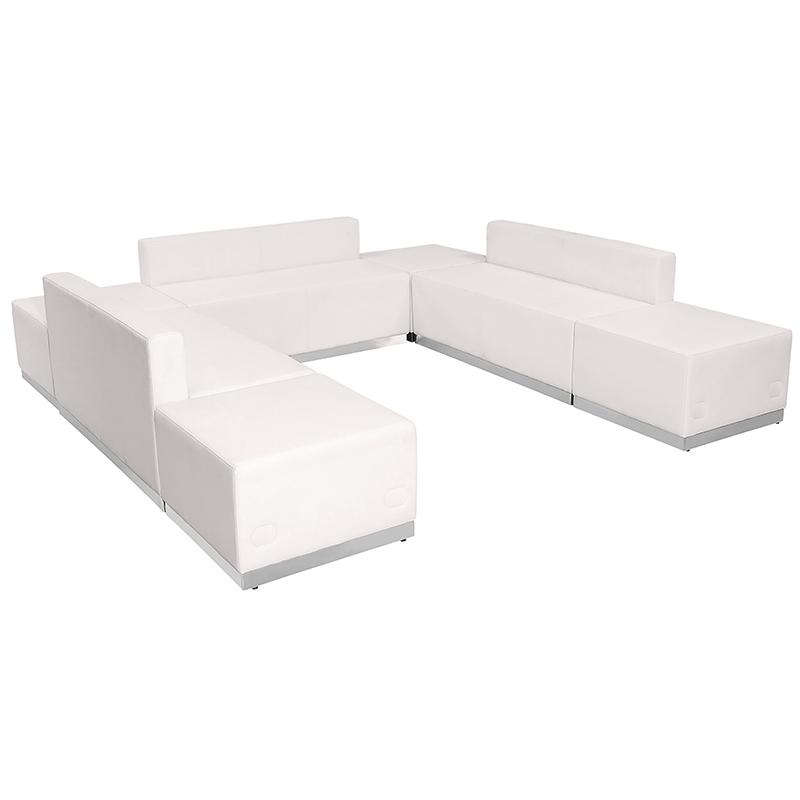 alon modular white sofa seating set