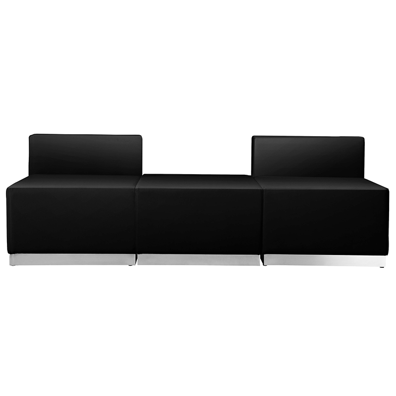 3 piece alon series reception bench front view