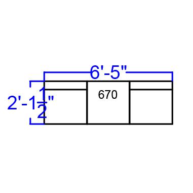 3 piece white reception bench dimensions