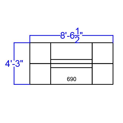alon series modular reception set dimensions