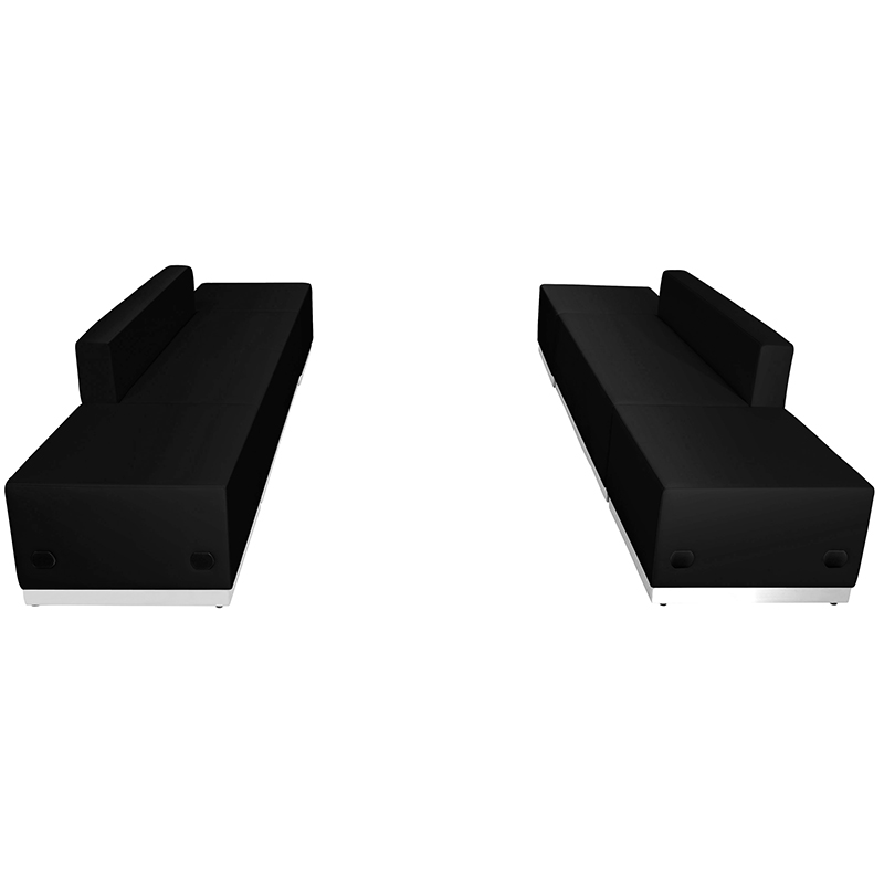 alon 6 piece loveseat and ottoman package - side view