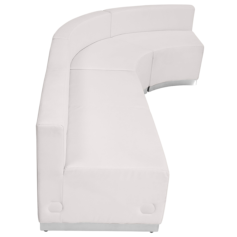 alon j shaped white reception sectional side view