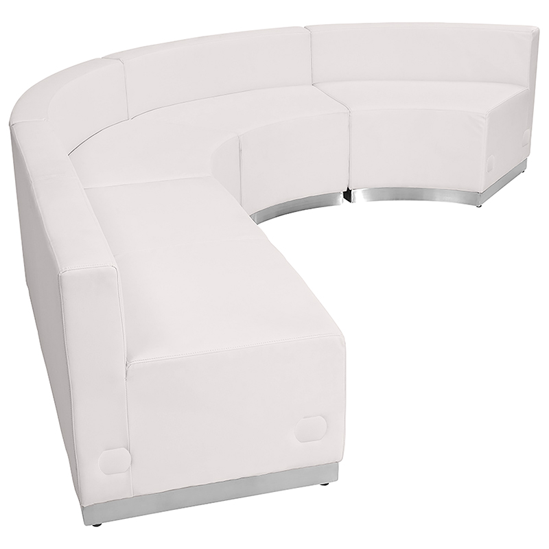 white alon sofa sectional side view