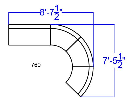 white alon sofa sectional dimensions