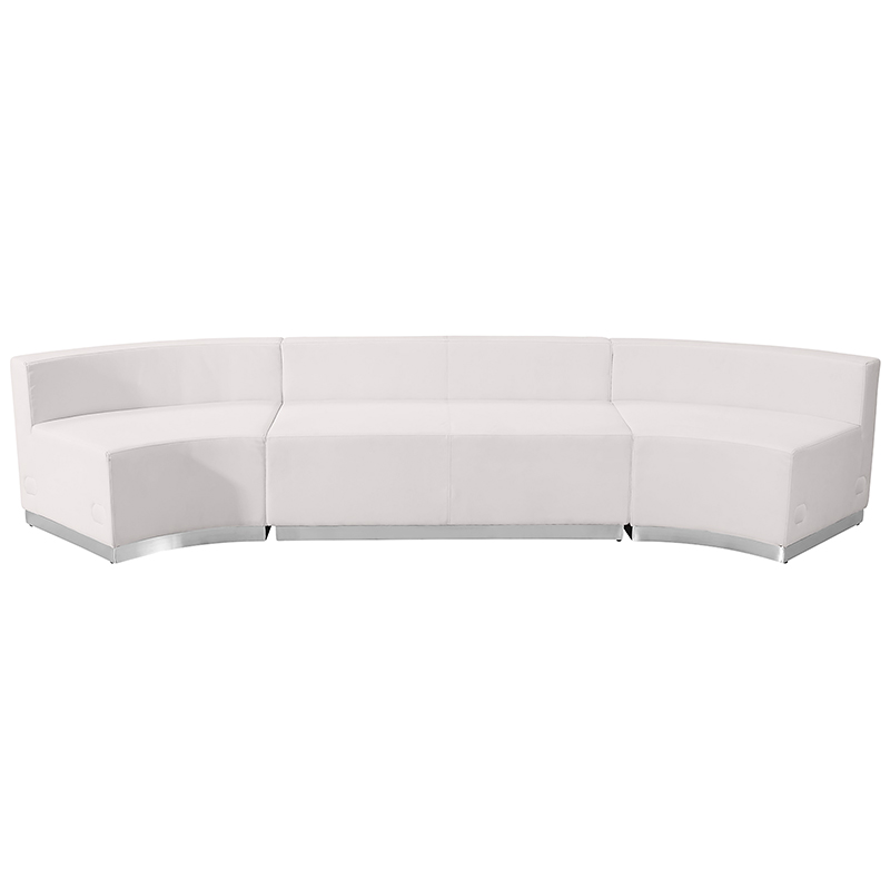 alon white reception sectional - front view