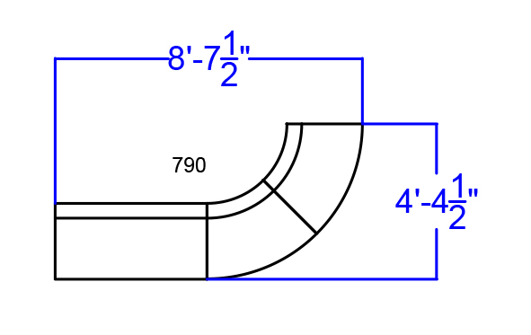 black alon series 3 piece lounge sectional dimensions