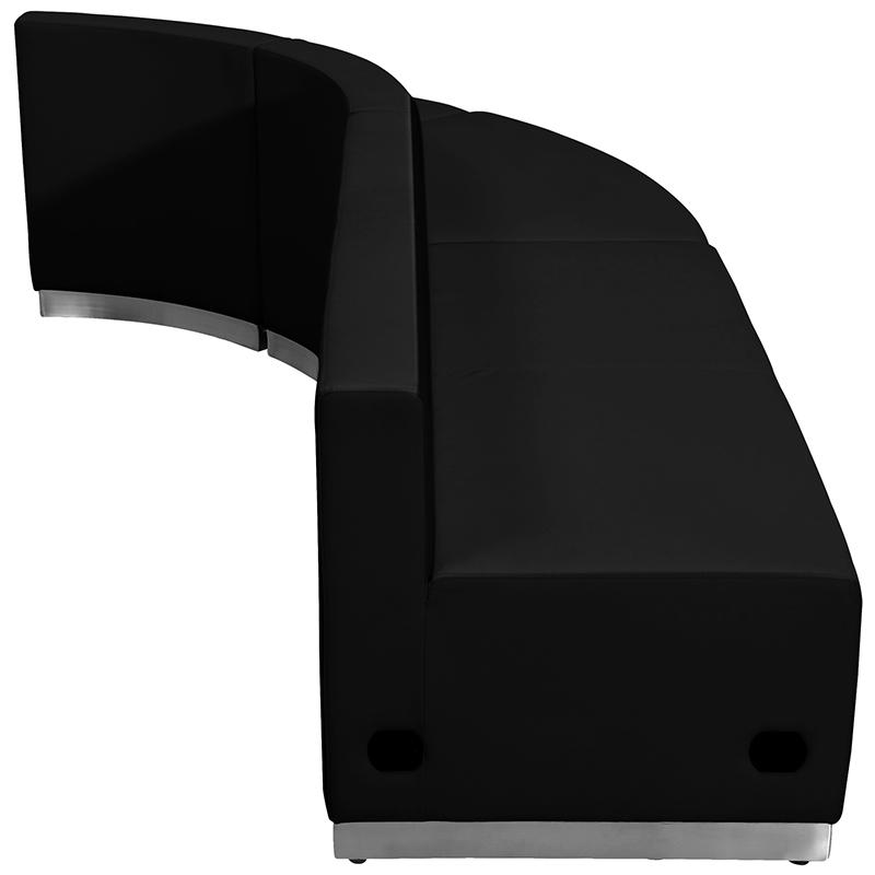 black alon series 3 piece lounge sectional back view
