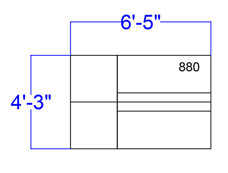 alon 4 piece loveseat and ottoman set dimensions