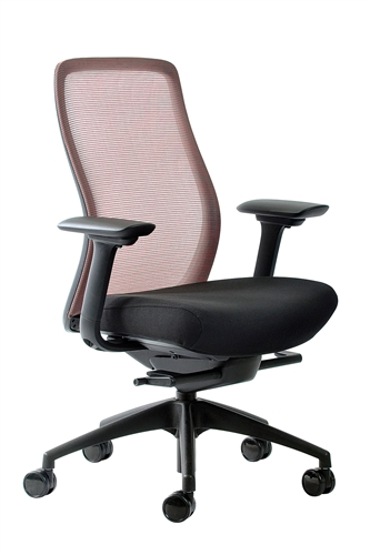 Eurotech Seating Vera Bittersweet Red Mesh Back Task Chair