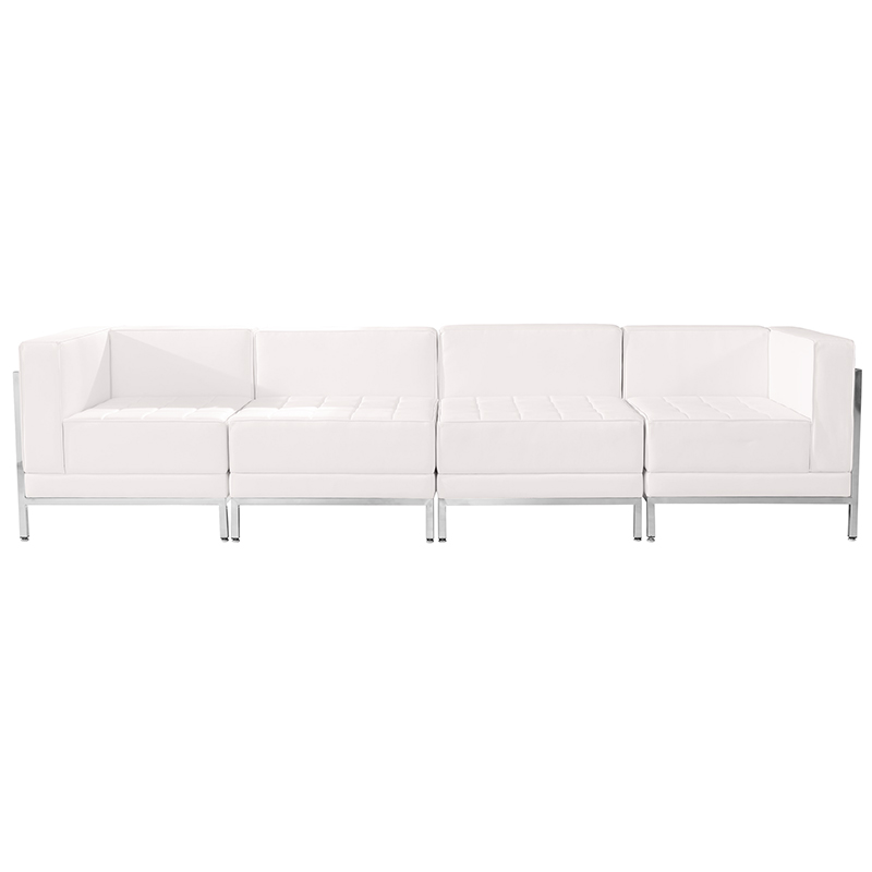white 4 pice reception sectional